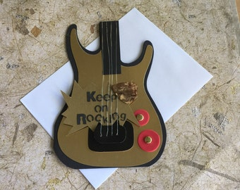 Handmade Guitar card