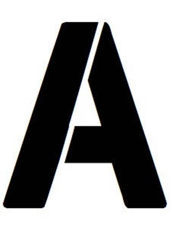 Letter A Stencil Made From 4 Ply Mat Board From