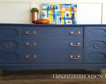 SOLD | SOLD | Mid Century Modern Dresser | Painted Furniture | MCM | Chalk Painted Dresser |