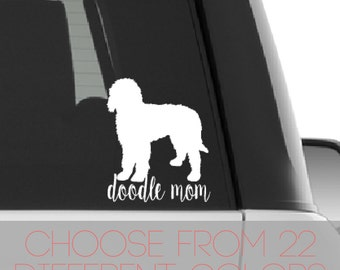 Doodle Mom Car Decal, Goldendoodle Car Decal, Free INTERNATIONAL Shipping