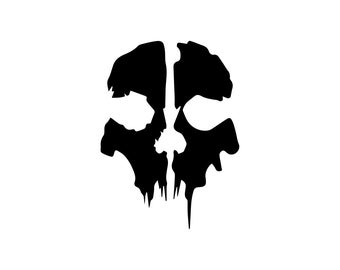 Ghosts Decal - Call Of Duty Decal / Gamer Decal / Gaming / Xbox Decal / Gamer Decor