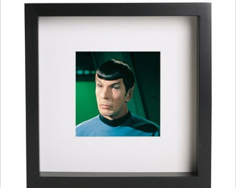 Star Trek Spock Leonard Nimoy photo print   Use in IKEA Ribba frame   Looks great framed for gift   Free Shipping   #4