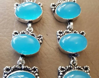 Blue Chalcedony Earrings!