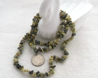 36 Inch Strand of Natural Yellow Turquoise Chips (1643)