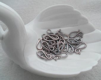 20 sets Antique Silver Hook-n-Loop Clasp (1520)
