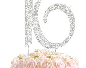 Rhinestone Crystal Birthday Anniversary Cake Topper Number Pick 16 Diamante Gems Decoration - 16