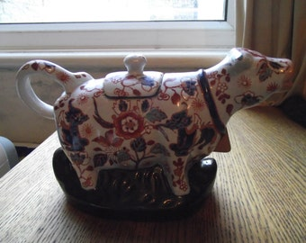 Chinese creamer cow antique with marks