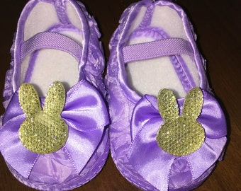 Purple Bunny Shoes,Pink Bunny Shoes, First Birthday Shoes,Cute easter bunny shoes