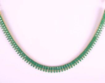 Indian Jewelry, Bridal, Gold, Emerald Necklace