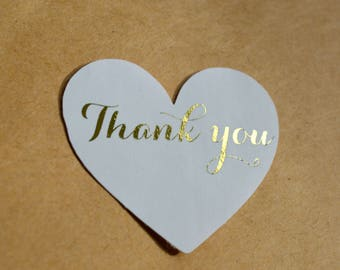 Wedding Stickers Foil Stickers Favors Custom Stickers Product Labels Simple Thank You  Gift Wrapping Envelope Sticker Packaging