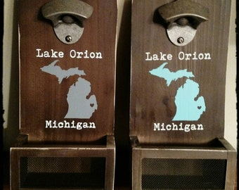 Vintage style bottle opener customized to your home