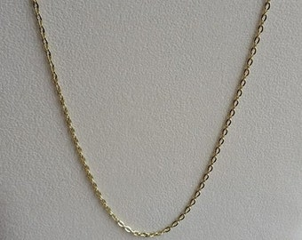 """Gold Plated Necklace, Gold Plated Chain, Gold Necklace, Gold Chain, 18inch Gold, 18"""" Gold, 18"""" Necklace, 18"""" Chain, Gold Link Chain, Link"""