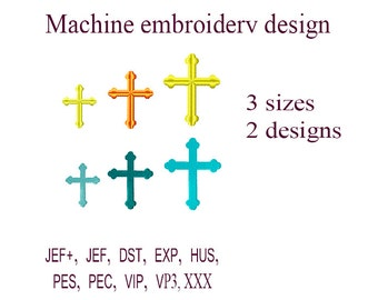 Machine embroidery designs. Christian Cross embroidery design.   easter Cross. Religious Embroidery. Embroidery Frame. Instant Download.