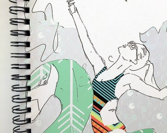 Pool Party notebook- spiral bound