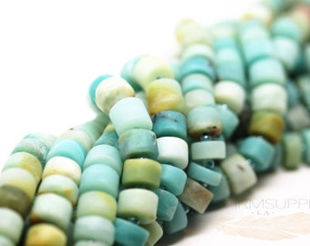 Natural Amazonite Matte Heishi beads FULL STRAND SP18-001