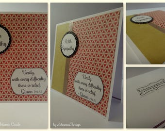 With Sympathy Handmade Islamic Card