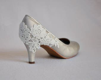 Ivory bridal shoes ivory wedding shoes ivory shoes wedding shoes ivory heels ivory lace wedding shoes ivory heels lace heels ivory low heels