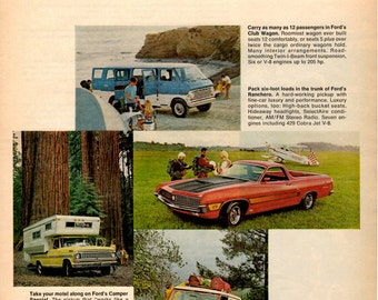 """1969 Ford Trucks vintage magazine ad""""when you need a second car"""" Wall decor"""