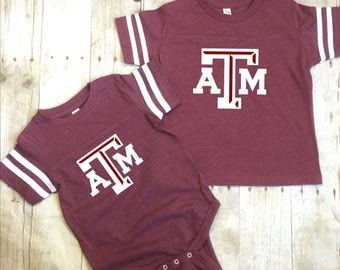 Texas A & M Toddler Shirt-TAMU Toddler Shirt-Texas A and M Maroon Shirt-Kids A and M Aggies Shirt-Texas A and M Kids Shirt-Maroon Shirt
