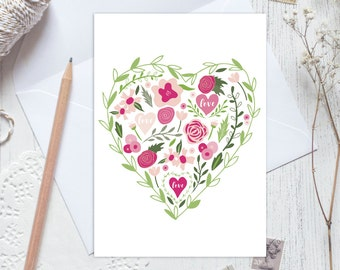 Wedding day card, anniversary card, with love card, engagement card