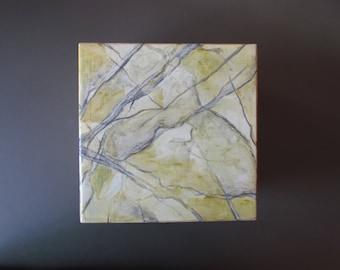 Marbred Wood Box ideal Gift Handpainted Imitating Stone