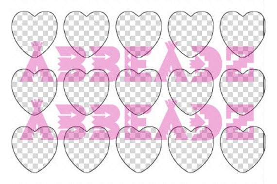 1 Inch Heart Collage Sheet Template 4x6