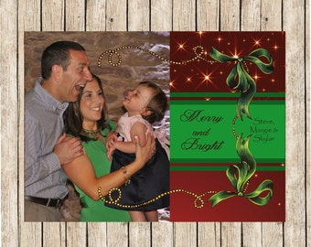 Photo Christmas Cards, Personalized Christmas Cards, Christmas Picture Card, Flat Photo Christmas cards, Family Photo Christmas Cards