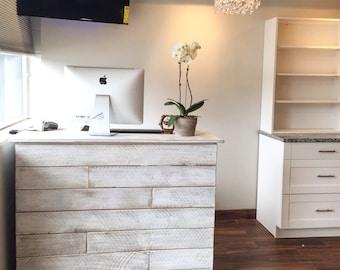 Reception desk - cash wrap counter - made to order- Anna