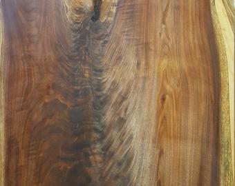 151# Live Edge Walnut Crotch Slab.  Figured Walnut Slab.