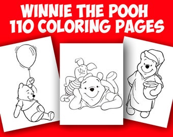 Winnie the Pooh coloring pages, Coloring Winnie the Pooh and his friends, Coloring for kids, Coloring book.