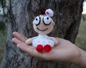 Gift for doctor crochet doctor medical gifts knitted nurse doctor christmas crochet doll decorative doll nursing gift doll keychain handmade