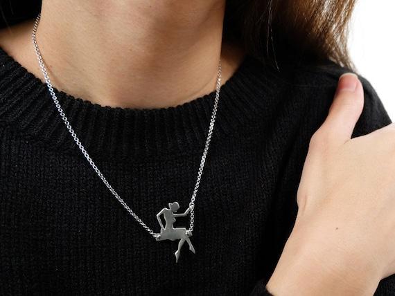 Girl Swinging Necklace