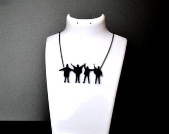 Beatles necklace, Beatles jewelry, Beatles help, Beatles gift, Beatles,  Beatles pendant