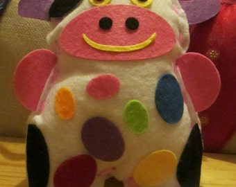 Cow Children Handmade Felt Gift Toy Decoration