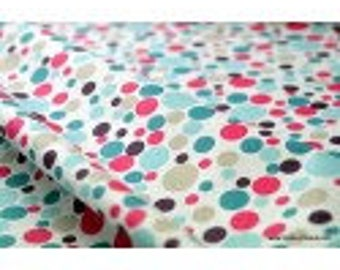fuchsia x50cm MELO printed cotton Poplin fabric