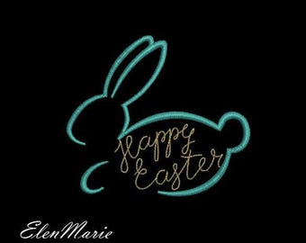 E006 Easter bunny - Machine Embroidery Design, two sizes