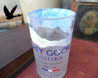 Grey Goose Bottle Upcycled Glass Tumbler.