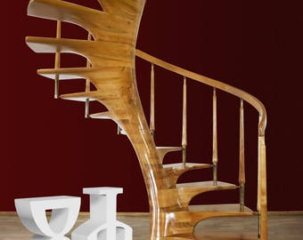 wooden staircase, stairs, design stairs, spiral stairs, wooden spiral staircase