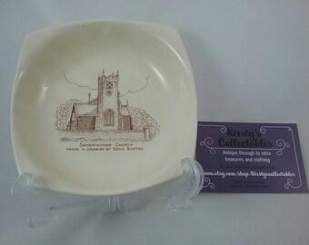 Beswick pin dish depicting royal Sandringham church.