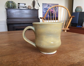 16 oz Pottery Mug - Wheelthrown handmade ceramic coffee cup gift with unique rustic earth toned glaze