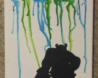 Monsters Inc. crayon art