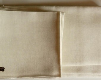 "Bucilla 100% Belgian Linen Tablecloth (60"" x 104"") and 12 Matching Napkins"