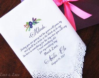 Wedding Handkerchief-PRINTED-Flower Girl! FREE Gift Cases!!! Wedding Hankerchief-Gifts-Favors-Accessories-Hankerchief-Flower Girl