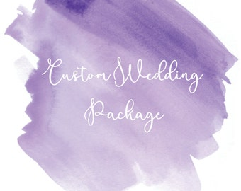 Custom Wedding Package - One of a Kind with Hand-Drawn Illustrations