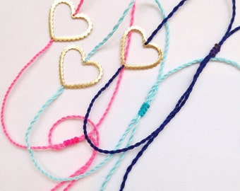 Mother's bracelet link, gold plated, heart lace