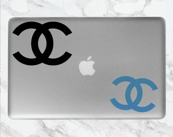 Chanel Logo Laptop Sticker | Chanel Sticker | Chanel | Computer, Laptop, Mac Stickers/Decals