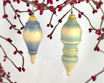 Wooden Ornament Set - Classic Finial Shapes