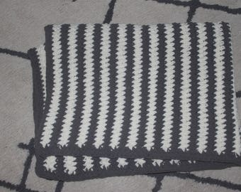 Crocheted Striped Baby Blanket