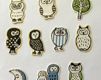 Stickers - Owls - Favorite Seal Brand - Japanese Kawaii