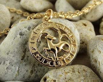 Capricorn necklace capricorn pendant capricorn charm capricorn jewelry astrology jewelry capricorn zodiac astrology charm horoscope pendant